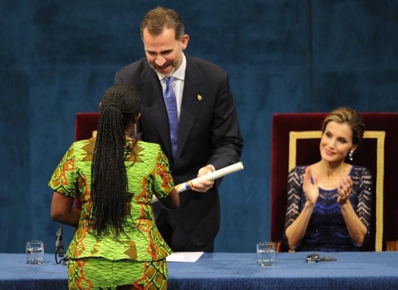 Felipe VI y Letizia durante la importante premiación.
