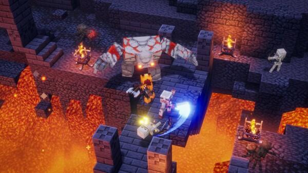 Fantasía mítica a la Minecraft