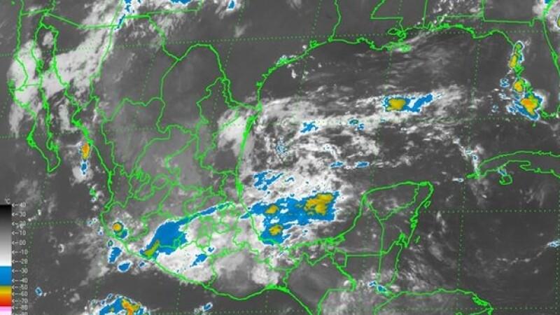 Un aspecto general de la República Mexicana para este domingo, que registrará lluvias de fuertes a intensas en las próximas horas