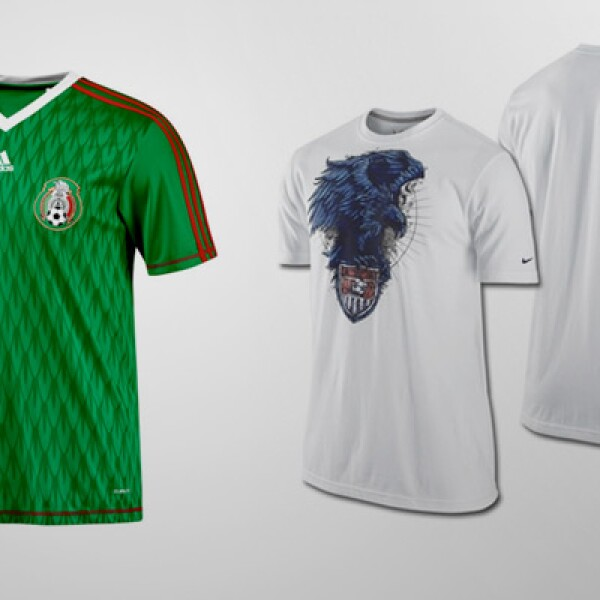 Otro estilo de playera: la mexicana tiene un precio de 24 dólares y la estadounidense 18 dólares.