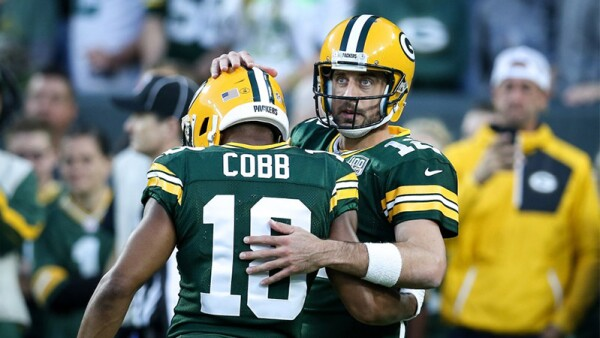 Randall Cobb y Aaron Rodgers