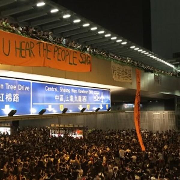 Hong Kong himno manifestantes protestas
