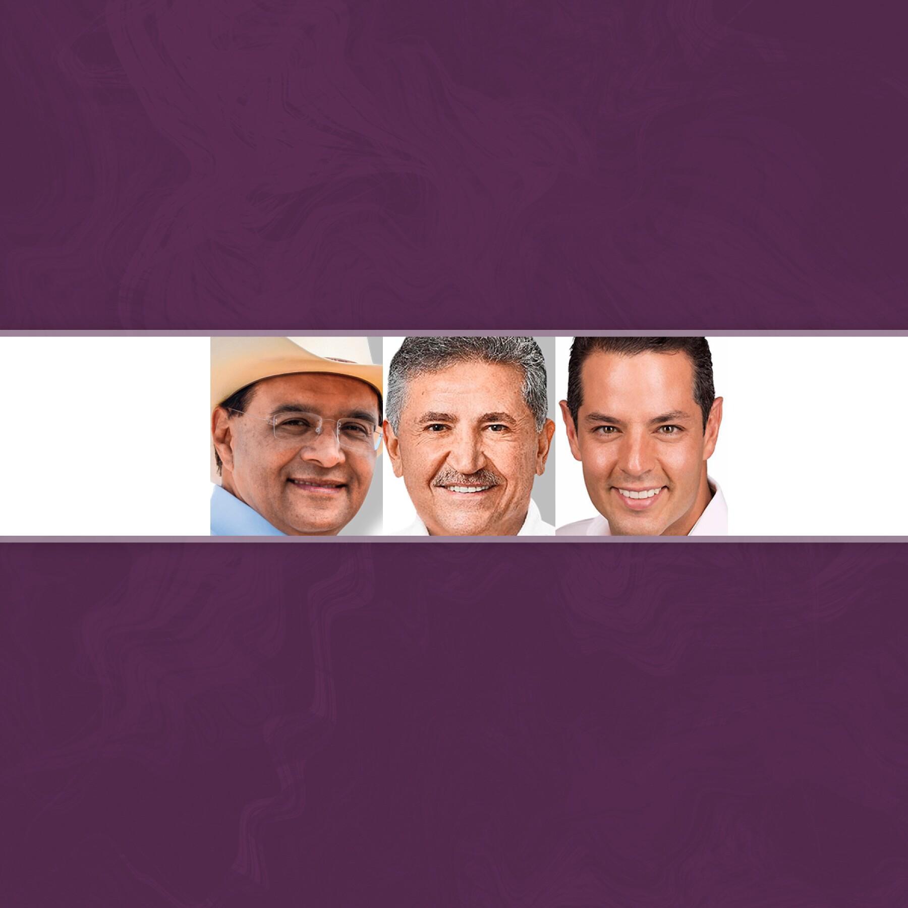 Benjamín Robles, José Antonio Estefan y Alejandro Murat.