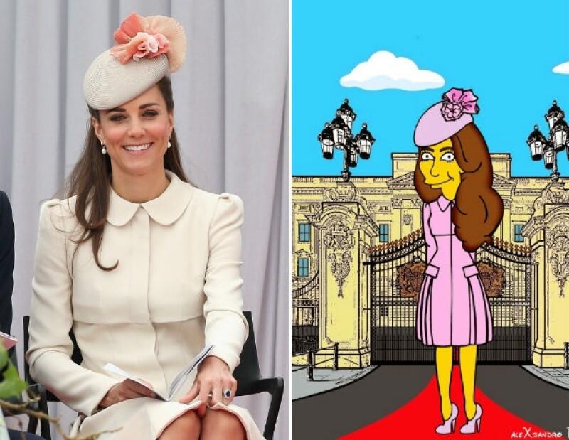 El artista Alexsandro Palombo es un experto cuando se trata de dibujar a la famosa familia amarilla, esta vez incluyó a la duquesa de Cambridge como uno de sus personajes.
