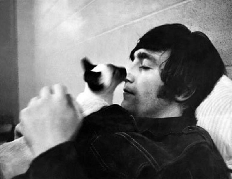 Elvis era el gato favorito de John.