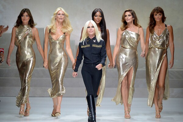 Versace show, Runway, Spring Summer 2018, Milan Fashion Week, Italy - 22 Sep 2017