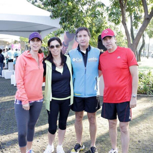 Ruth Bitar, Gaby y Agustín Villarreal y Eduardo Agüero