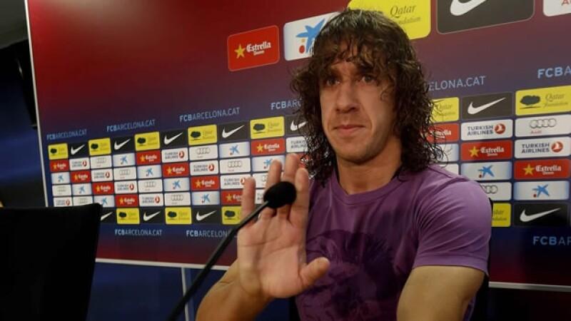 Carles Puyol habla a los medios