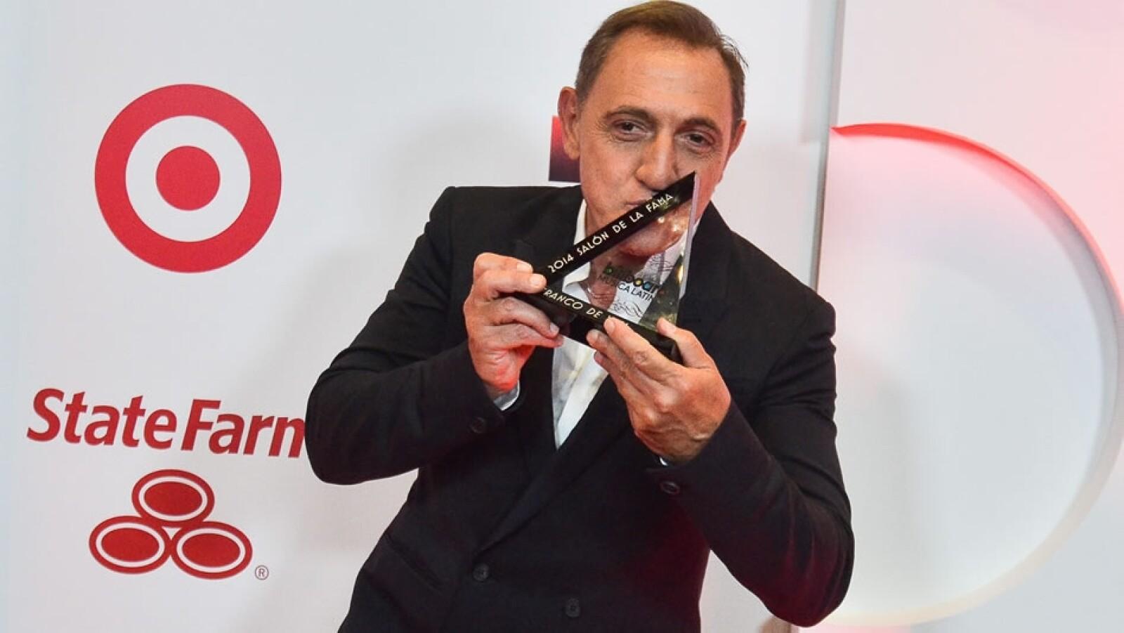 El cantautor venezolano Franco de Vita recibió el premio Salón de la Fama por su carrera de más de tres décadas