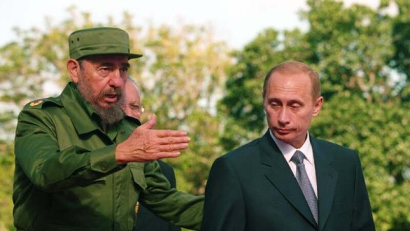 Fidel Castro Vladimir Putin 2000