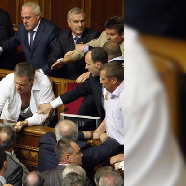 Ucrania Parlamento pelea 4