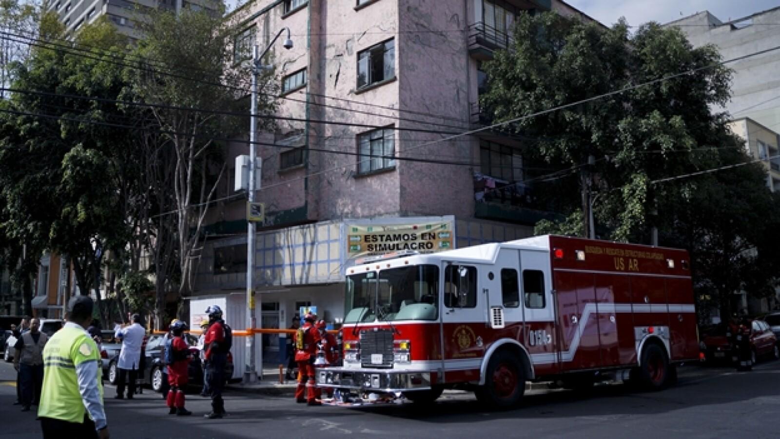bomberos macrosimulacro ciudad de mexico