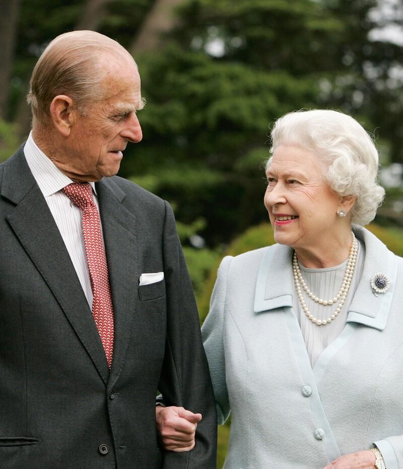 Felipe, duque de Edimburgo, e Isabel II.