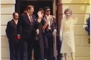 Reagans And Michael Jackson (Colorized)
