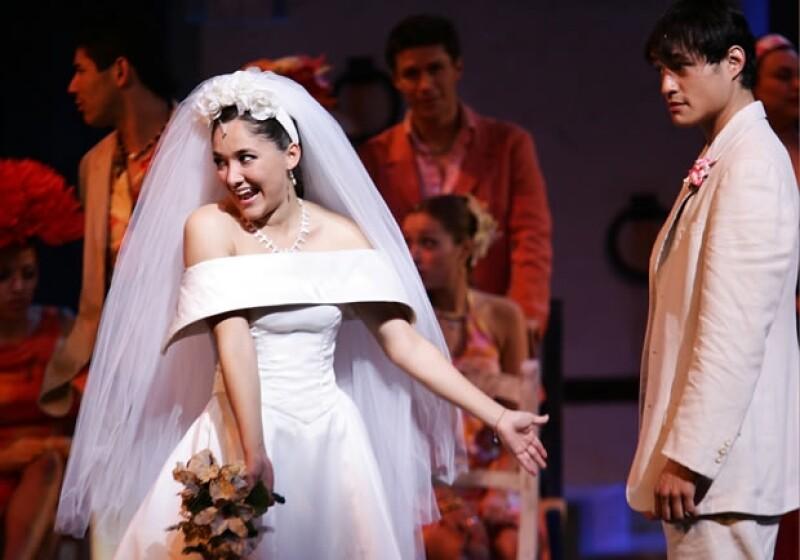 Sherlyn en el musical Mamma Mia, en 2010.