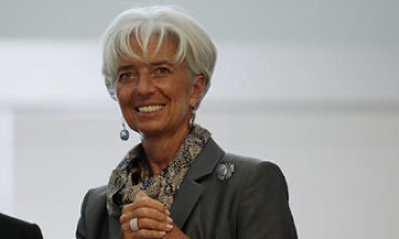Lagarde respaldó también el plan de China de gasto en infraestructura. (Foto: AP)