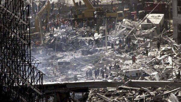 Los escombros de las Torres Gemelas