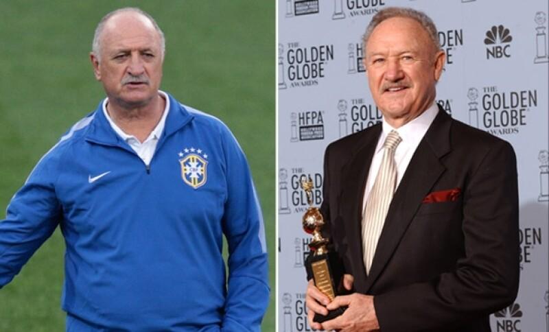 Durante este encuentro de Brasil contra Colombia recordamos lo mucho que se parecen el Director Técnico de Brasil, Luiz Felipe Scolari, y el actor Gene Hackman.