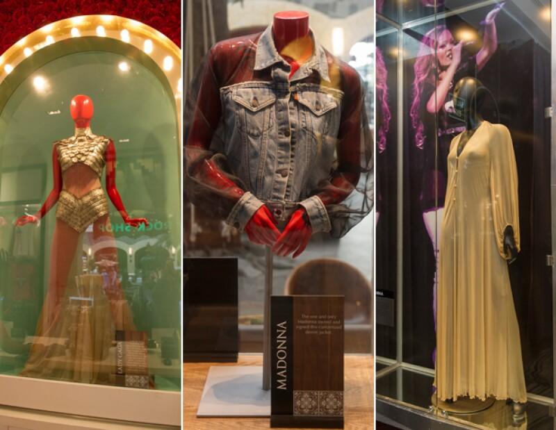 Memorabilia original de Lady Gaga, Madonna y Rihanna.