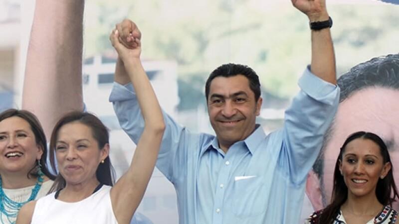 Jorge Camacho en campaña
