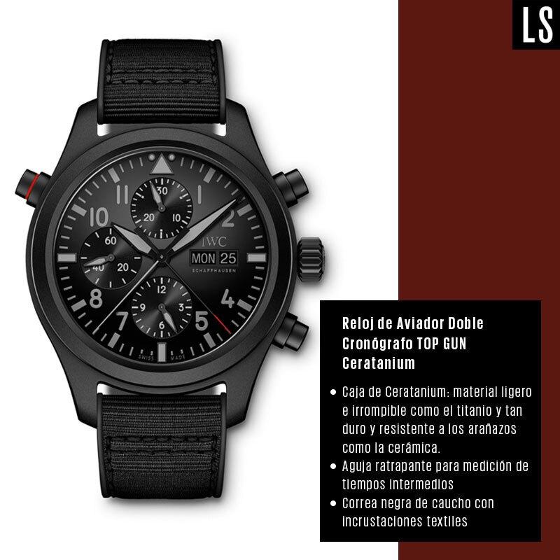 563695c2a65f Reloj de Aviador Doble Cronógrafo TOP GUN Ceratanium (IWC)