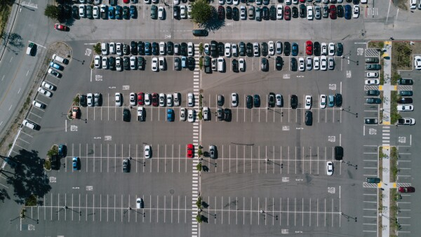 Aerial of Parking Lot