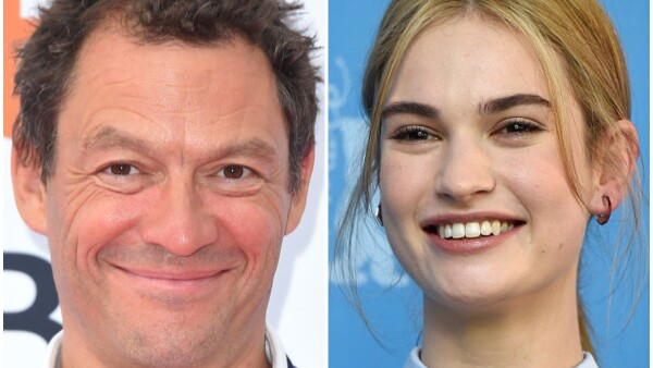 Dominic West y Lily James