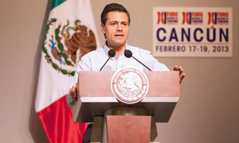 El presidente Peña Nieto indicó que se impulsará el Sistema Nacional de Certificación Turística. (Foto: Notimex)