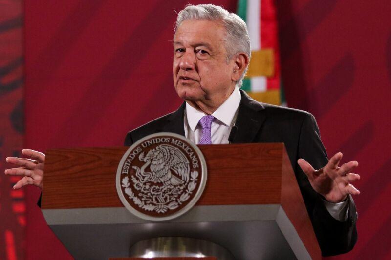 Andrés Manuel Löpez Obrador, presidente de México, durante la conferencia matutina.