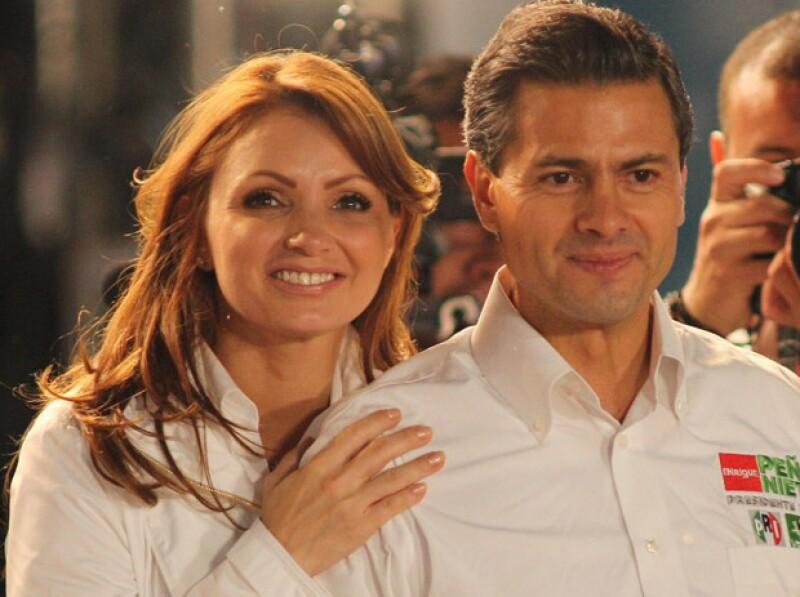 Durante un festejo con motivo del Día de las Madres, la esposa del candidato del PRI a la presidencia de México comentó: `ojalá que Dios me lo regale´.