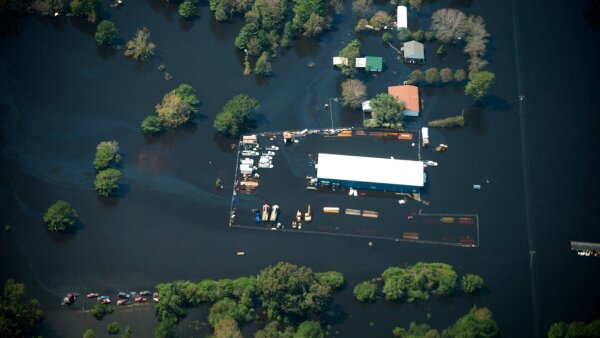 Flooding is seen in and around Wilmington