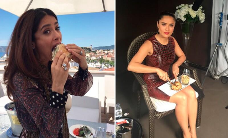 La actriz ha roto récord para comer durante su estancia en Cannes.