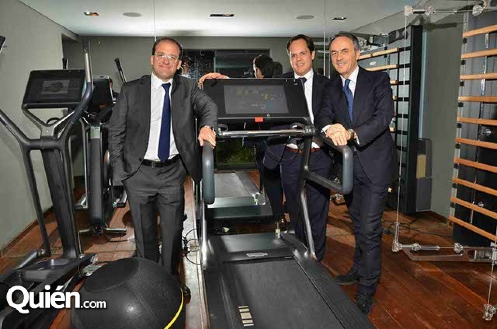 Bernardo González,Carlos González y Nero Alessandri.
