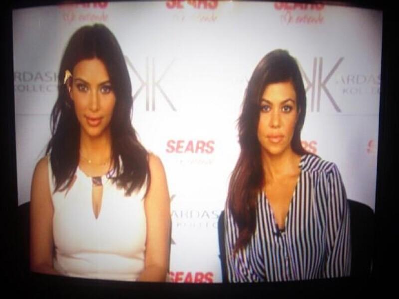 Kim y Kourtney realizaron esta entrevista desde Los Ángeles.