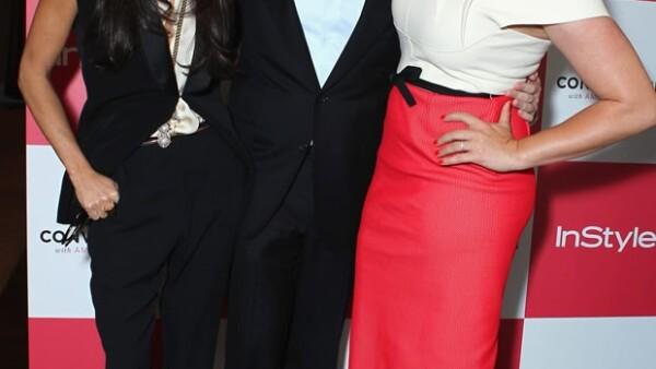 La actriz asistió al lanzamiento del show de TV `The Conversation´ el día de ayer, durante le evento lucía muy sonriente.