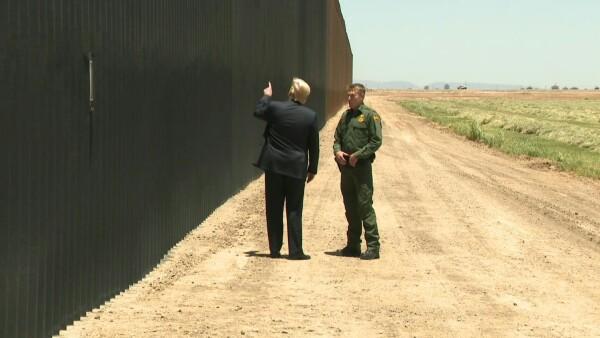 Trump dice que el muro fronterizo ha detenido incluso la covid-19
