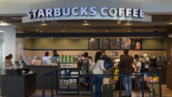 Starbucks Coffee store at Miami International Airport