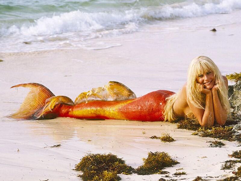Daryl Hannah como Madison, la guapa sirena de Splash, en 1984.