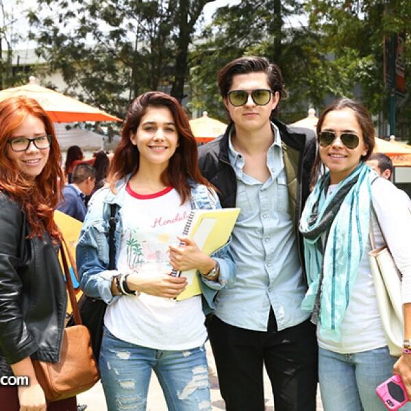 Raquel Medina, Rocío Rodríguez, Marcelo Etienne y Valeria Mendoza