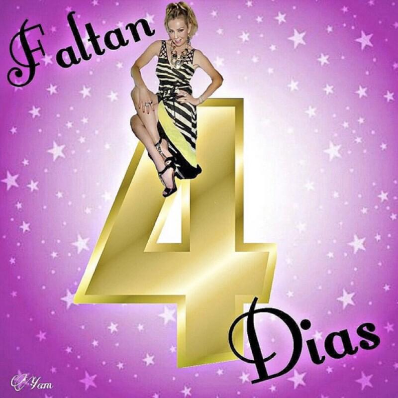 Thalía está comenzando el conteo para celebrar en grande su cumpleaños.