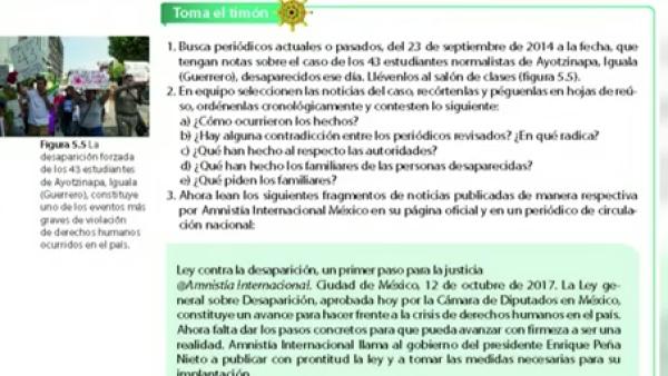 Integran el caso Ayotzinapa en libros de texto para alumnos de secundaria en Méx