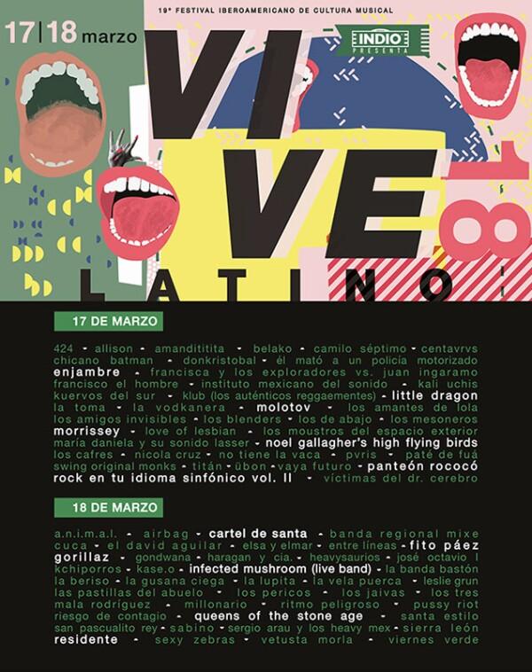 Vive Latino 2018 cartel