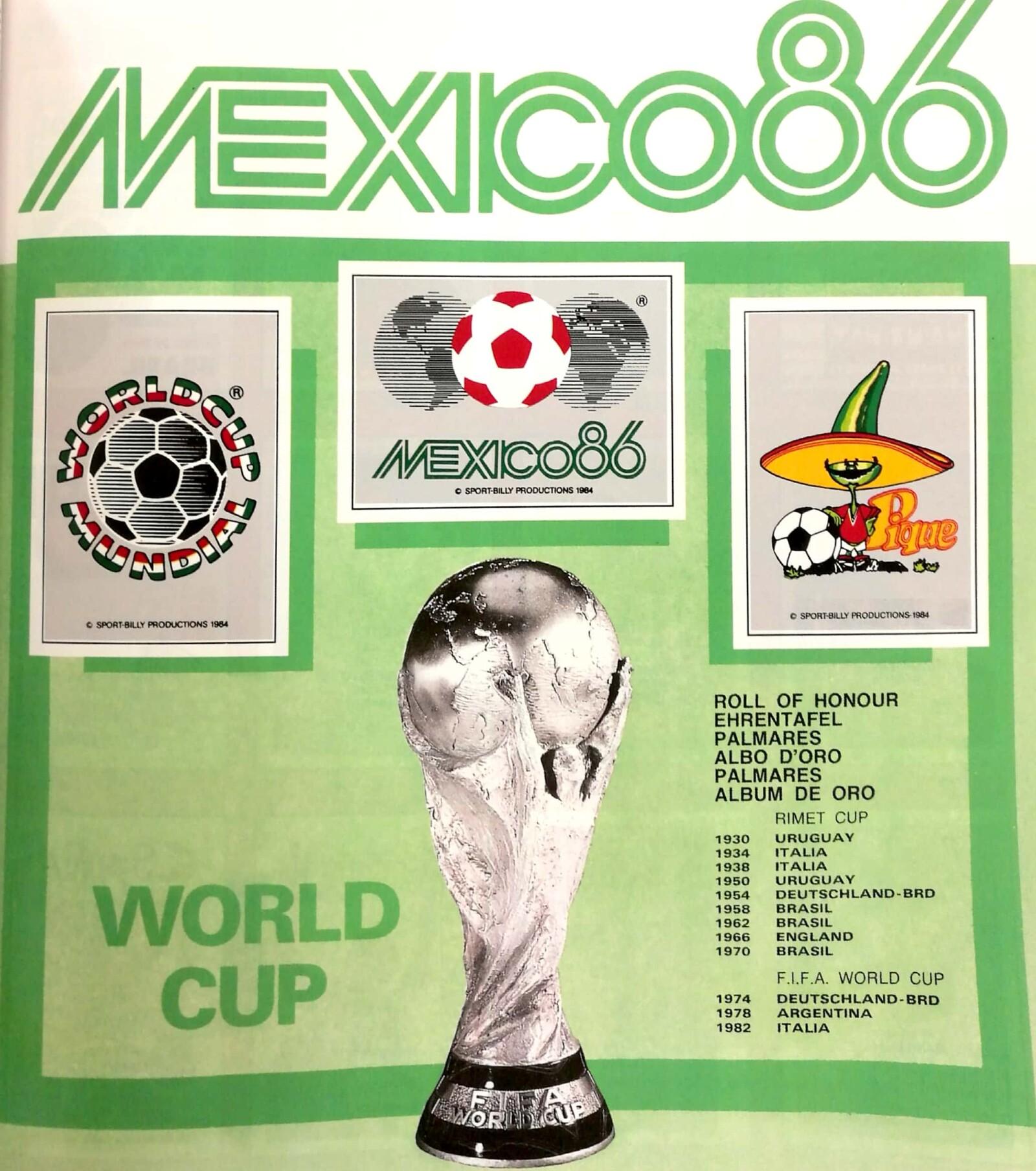 Álbum Mundial México 1986