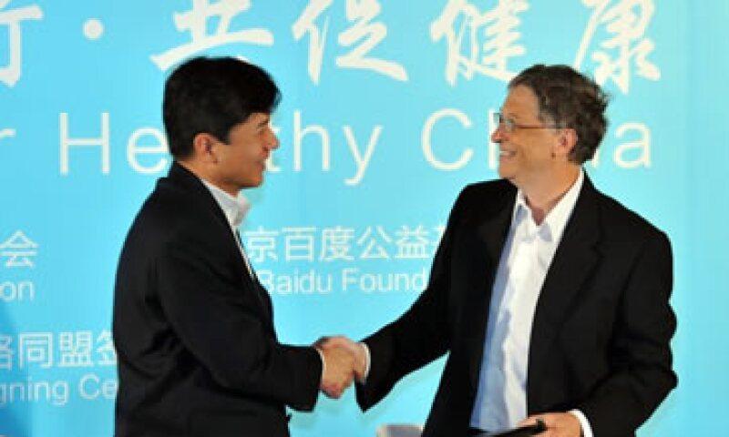 El CEO de Baidu Robin Li y el fundador de Microsoft Bill Gates se encontraron esta semana. (Foto: Getty Images)