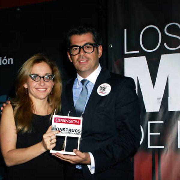 Carlos Salcido, director de mercadotecnia de Palacio de Hierro y Bárbara Anderson.