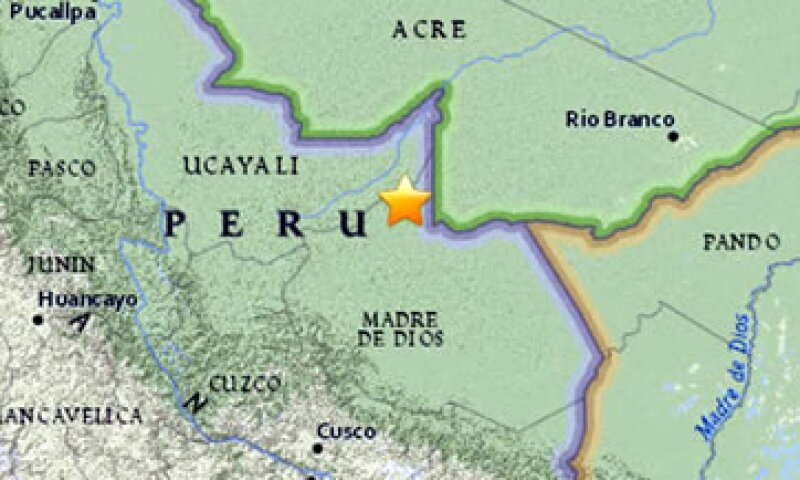 El epicentro del sismo fue muy profundo, a 570 kilómetros de profundidad, en una zona selvática (Foto: USGS/Cortesía )