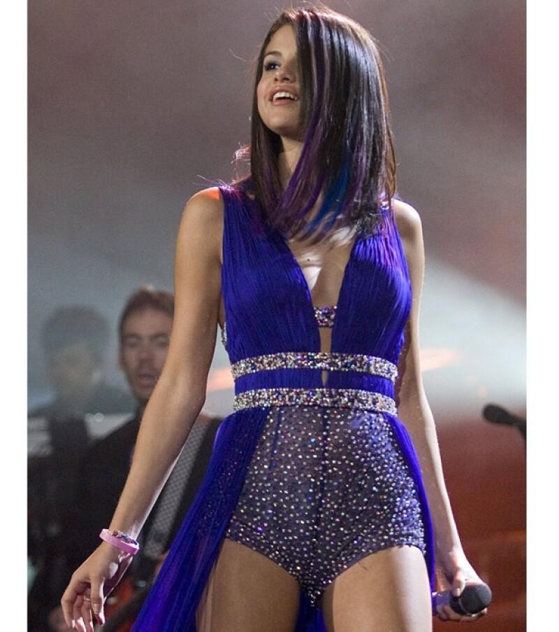 Selena estaba conmovida por el cariño que le demostraron sus fans.