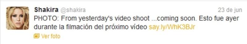 La cantante colombiana compartió este fin de semana una imagen de lo que será su nuevo video.