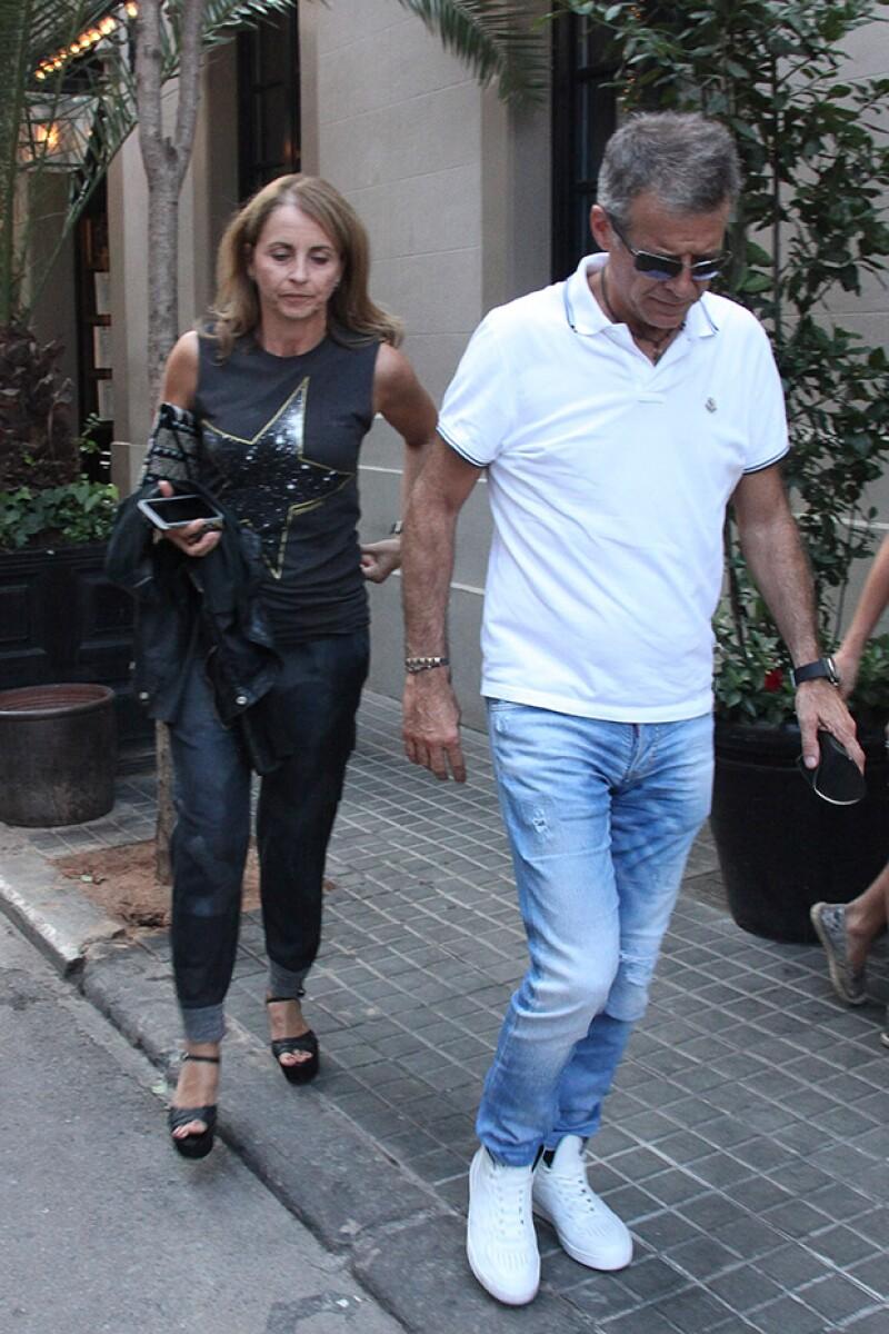 Los padres de Piqué también asistieron al desayuno, sin embargo, el defensa español no estuvo presente.