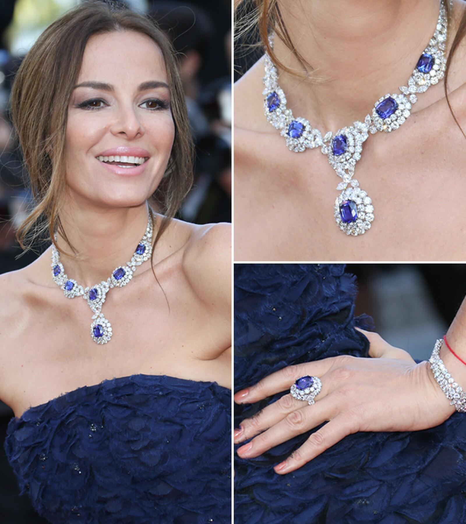 Carolina Parsons llevó joyería de Chopard a la premiere de `Julieta´.
